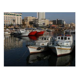 Seehafen von Tartus, Syrien Postkarte