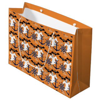 Seehalloween-Muster Große Geschenktüte