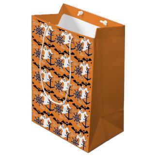 Seehalloween-Muster Mittlere Geschenktüte