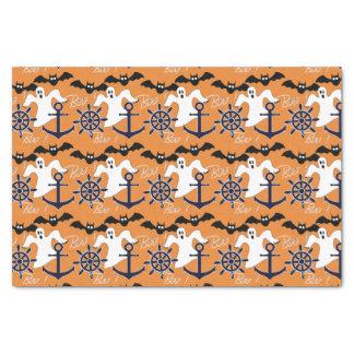 Seehalloween-Muster Seidenpapier