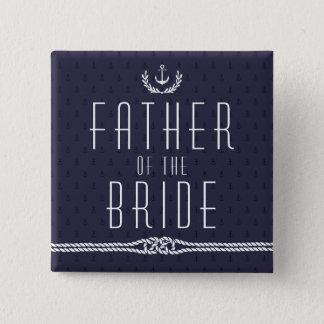 Seehochzeit knöpft Vater der Braut Quadratischer Button 5,1 Cm