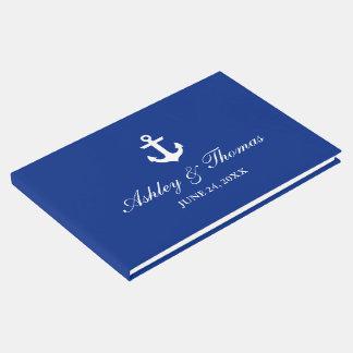 Seehochzeits-Anker-blaues Gast-Buch Gästebuch