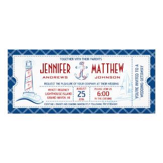 Seehochzeits-Einladungs-Karte Individuelle Einladungskarten
