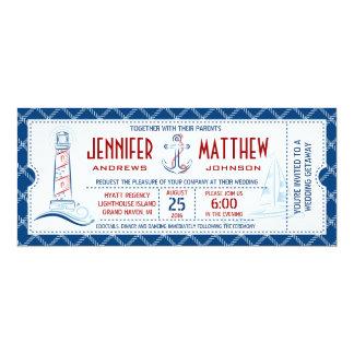Seehochzeits-Einladungs-Karte 10,2 X 23,5 Cm Einladungskarte