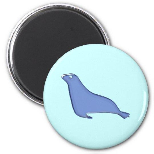 Seehund Robbe seal Runder Magnet 5,7 Cm