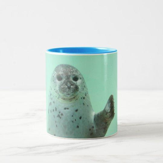 Seehund Zweifarbige Tasse