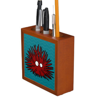 Seeigel-Uni stacheliger roter Igels-Ozean Stifthalter