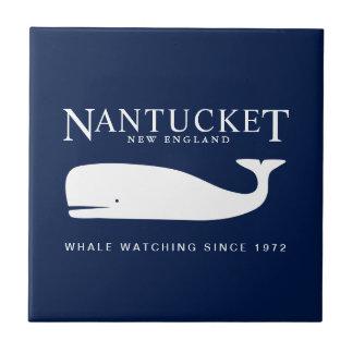 SeeKeramik-Fliese, Nantucket Wal-Uhr-Abzeichen Fliese