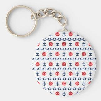 Seekette in Rotem, in weißem u. Blau Schlüsselanhänger