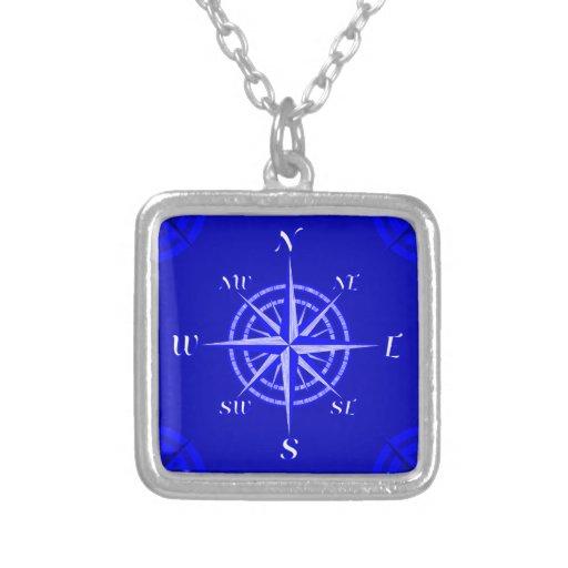 Seekompass-Rose Personalisierte Halskette