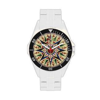 Seekompass-Rosen-Uhr