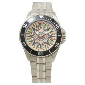 Seekompass-Rosen-Uhr Uhren