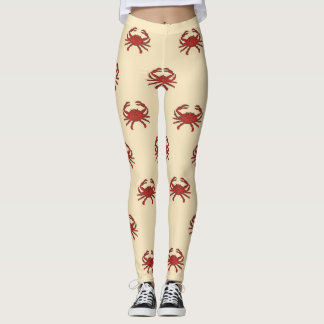 Seekrabben-rote Sahneillustration Leggings