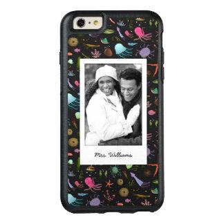 Seelebewesen-Muster   Ihr Foto u. Name OtterBox iPhone 6/6s Plus Hülle
