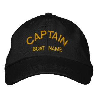 Seeleute KAPITÄN u. BOOT NAMENShut Bestickte Baseballkappe