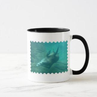 Seelöwe-Briefmarken-Rand-Tasse 2 Tasse