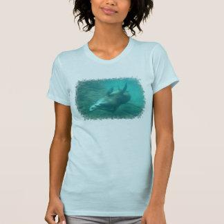 Seelöwe-lässiges Schaufel-Shirt T-Shirt