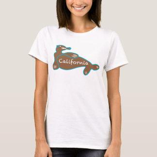 Seelöwe-T - Shirt Kaliforniens Brown