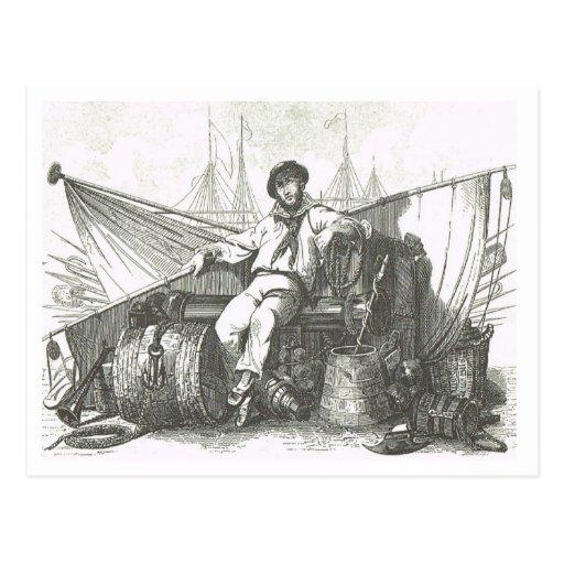 Seemann an Freizeit 1800s Postkarten