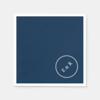 Seemann-Blau - Frühlings-London-Mode-Trends 2018 Serviette