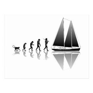 Seemann-Evolution Postkarte