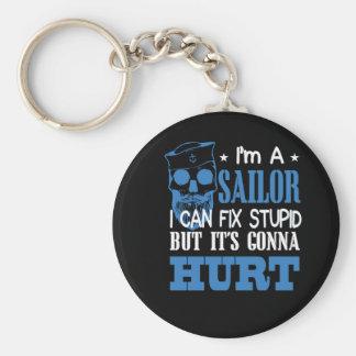 Seemann kann dumm aber sein Gehen regeln zu Schlüsselanhänger