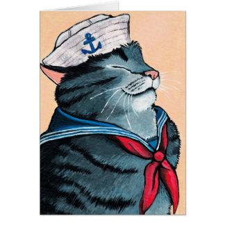 Seemann-Katzeseetabby-Katzen-Malerei Karte