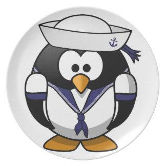 Seemann-Pinguin-Kinder Flacher Teller
