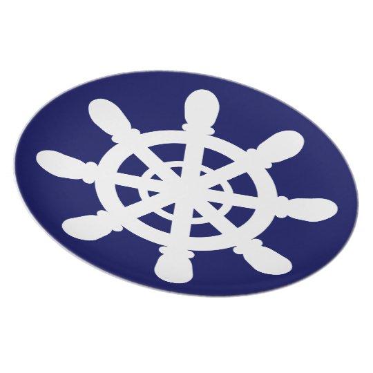 Seemann-Radmelamin-Plattenblau Melaminteller