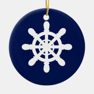 Seemann-Radverzierungsblau Keramik Ornament