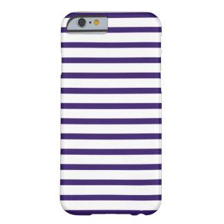 Seemann-Streifen - Marine-Blau und Weiß Barely There iPhone 6 Hülle