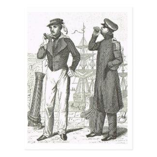 Seemannuniformen 1800s postkarte