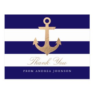 Seemarine danken Ihnen Postkarte