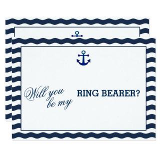Seemarine, die Wellen SIE GEWILLT SIND, IST MEIN 8,9 X 12,7 Cm Einladungskarte