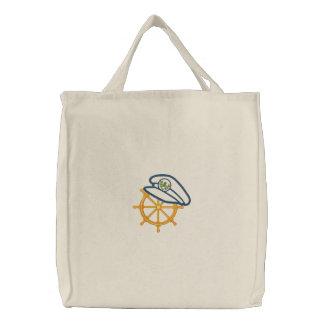 Seemotiv 4 bestickte einkaufstaschen