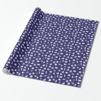 Seemotiv-Seemarine-Blau Geschenkpapier