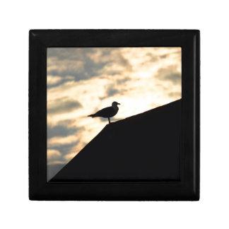 Seemöven-Sonnenuntergang Geschenkbox