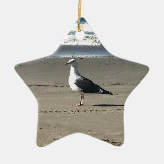 Seemöwe auf dem Strand Keramik Ornament