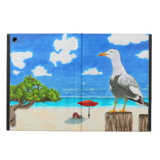 Seemöwe auf einem sonnigen Strand-iPad Air-Fall