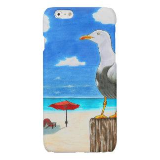 Seemöwe auf einem sonnigen Strand iPhone 6/6s Fall