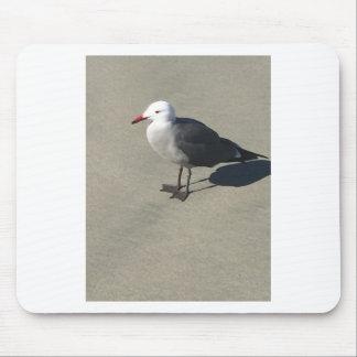 Seemöwe auf Sandy-Strand Mousepad