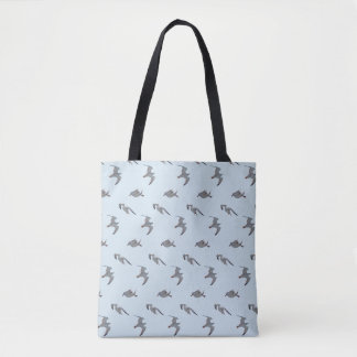 Seemöwe-Raserei ganz über Druck-Tasche Tasche