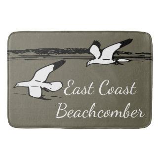 Seemöwe-Strand-Ostküstebeachcomber-Badezimmermatte Badematte