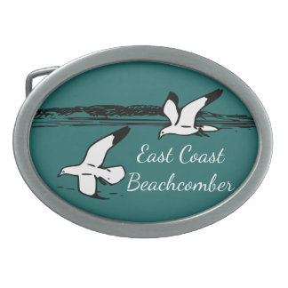 Seemöwe-Strand-Ostküstebeachcomber-Gürtelschnalle Ovale Gürtelschnalle