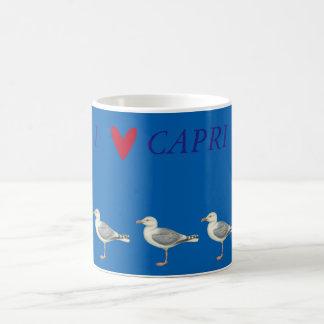 Seemöwen auf einem blauen Hintergrund - Capri Kaffeetasse