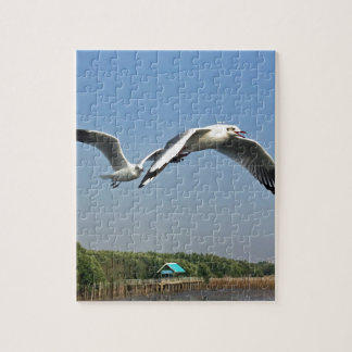 Seemöwen im Flug Puzzle