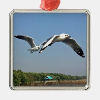 Seemöwen im Flug Silbernes Ornament