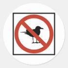 Seemöwen verboten runder aufkleber