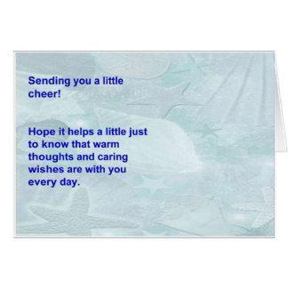 SeeMuschelpapier mit besten Wünschen Karte