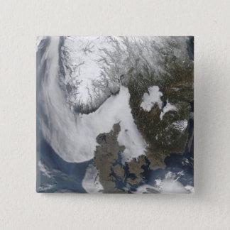 Seenebel in Skandinavien Quadratischer Button 5,1 Cm